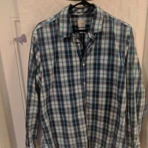 GAP Large Plaid Button Up